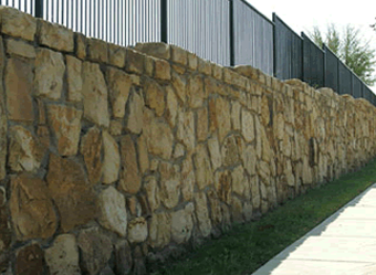 Retaining Wall Made of Natural Stone in Arlington, TX